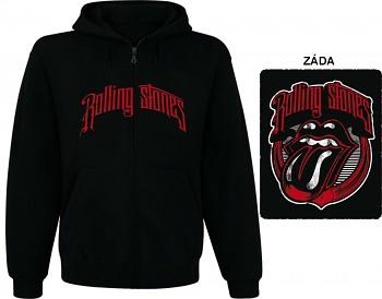 Rolling Stones - mikina s kapucí a zipem