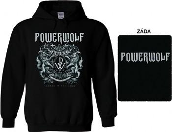 Powerwolf - mikina s kapucí