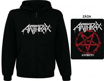 Anthrax - mikina s kapucí a zipem