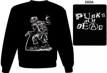 Punk's Not Dead - mikina bez kapuce