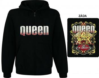 Queen - mikina s kapucí a zipem