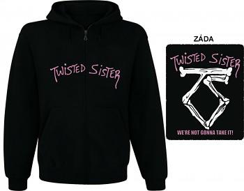 Twisted Sister - mikina s kapucí a zipem