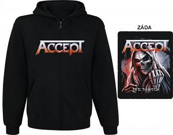 Accept - mikina s kapucí a zipem
