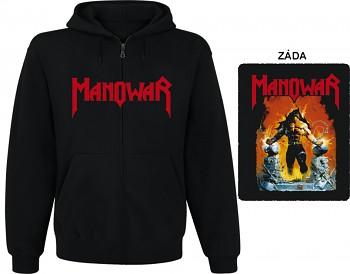 Manowar - mikina s kapucí a zipem
