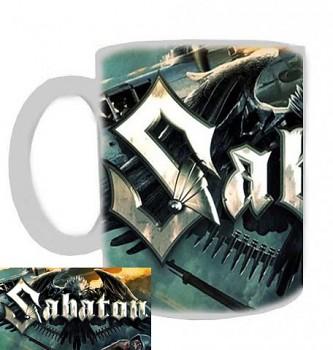 Sabaton - hrnek bílý - b