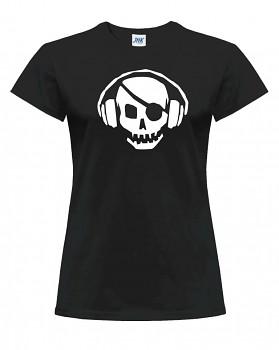 Skull  –  dámské triko jednostranné