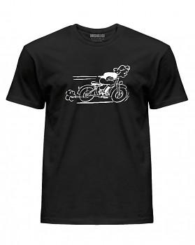 Motorkářské  - pánské triko jednostranné