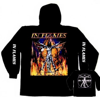 In Flames - mikina s kapucí
