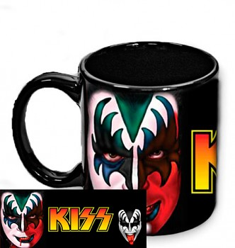 Kiss - Gene Simmons - hrnek černý