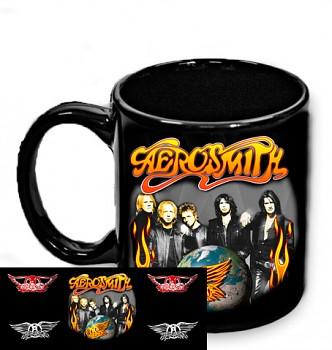 Aerosmith - hrnek černý 1