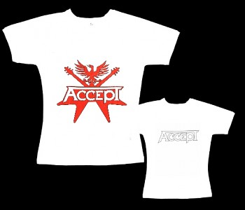Accept - dámské tričko bílé
