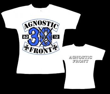 Agnostic Front - dámské tričko bílé