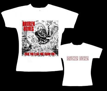 Broken Bones - dámské tričko bílé
