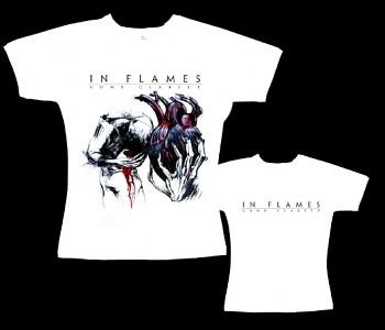 In Flames - dámské tričko bílé