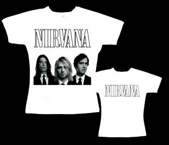 Nirvana - dámské tričko bílé