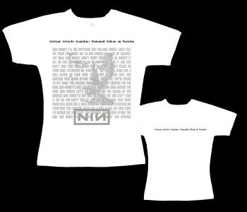 Nine Inch Nails - dámské tričko bílé