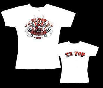 ZZ Top- dámské tričko bílé