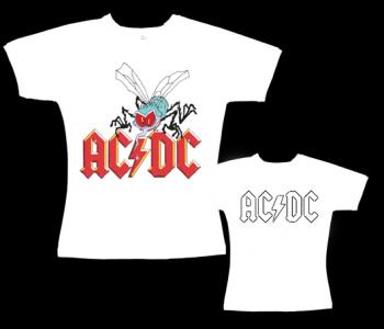 AC/DC - dámské tričko bílé