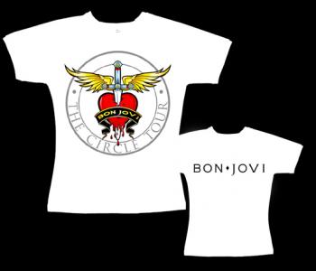 Bon Jovi - dámské tričko bílé