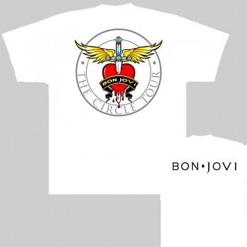 Bon Jovi - triko bílé