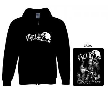 Acidez - mikina s kapucí a zipem