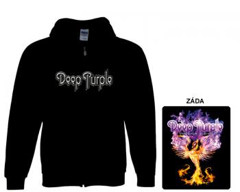 Deep Purple - mikina s kapucí a zipem