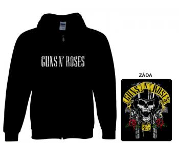 Guns N Roses - mikina s kapucí a zipem