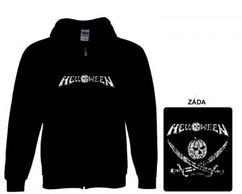 Helloween - mikina s kapucí a zipem