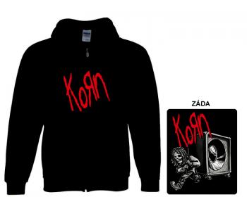 Korn - mikina s kapucí a zipem