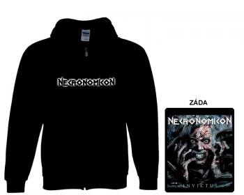Necronomicon - mikina s kapucí a zipem