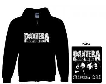 Pantera - mikina s kapucí a zipem