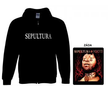 Sepultura - mikina s kapucí a zipem
