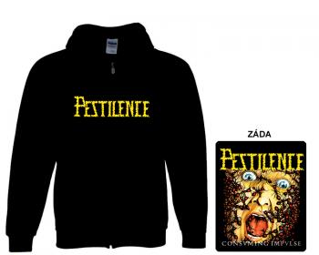 Pestilence - mikina s kapucí a zipem