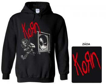 Korn - mikina s kapucí