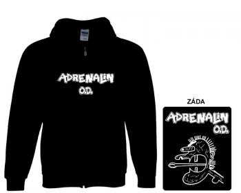 Adrenalin O.D. - mikina s kapucí a zipem