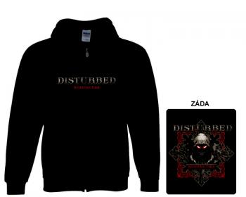 Disturbed- mikina s kapucí a zipem