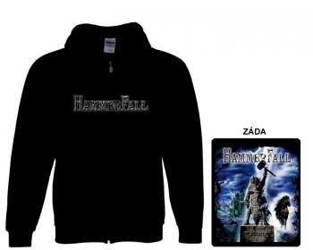 Hammerfall - mikina s kapucí a zipem