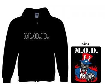 M.O.D. - mikina s kapucí a zipem