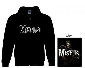 Misfits - mikina s kapucí a zipem