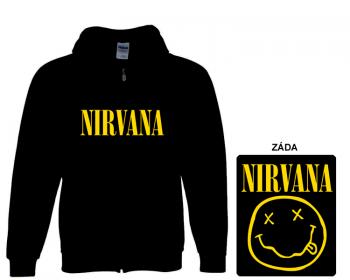 Nirvana - mikina s kapucí a zipem