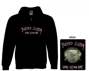 Twisted Sister- mikina s kapucí a zipem