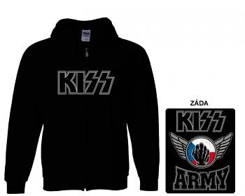 Kiss - mikina s kapucí a zipem
