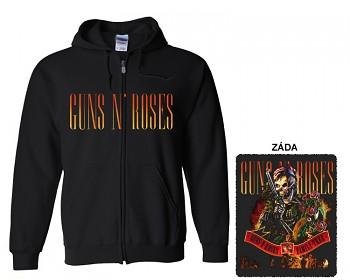 Guns N' Roses - mikina s kapucí a zipem