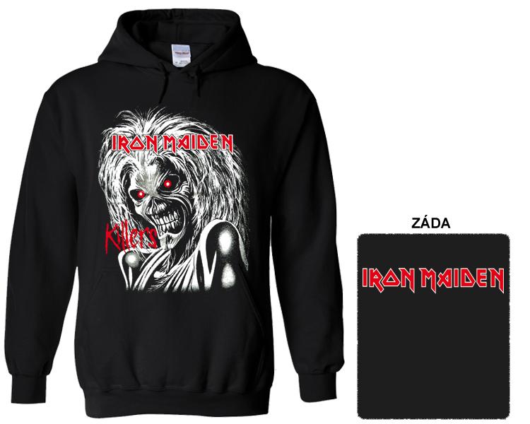 Iron Maiden - mikina s kapucí Denně nové zboží! 282406f213d