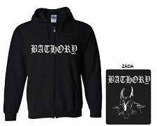 Bathory - mikina s kapucí a zipem
