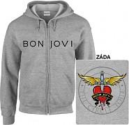 Bon Jovi - mikina s kapucí a zipem
