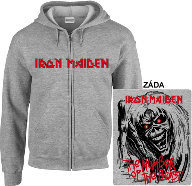Iron Maiden - mikina s kapucí a zipem Denně nové zboží! 973bd3536d4