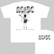 AC/DC - triko bílé