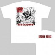Broken Bones - triko bílé