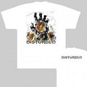Disturbed - triko bílé